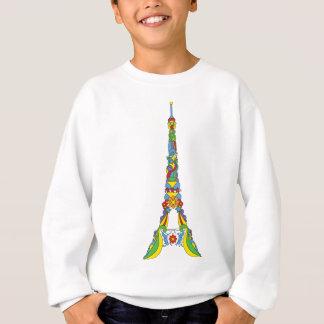 Paris Eiffel tower pop-art stylish silhouette Sweatshirt