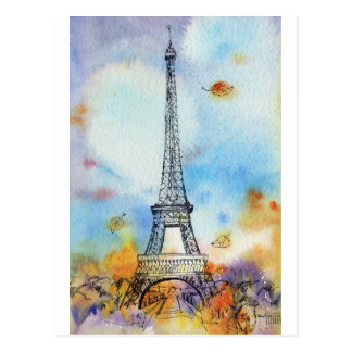 Paris. Eiffel Tower. Postcard