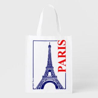Paris-Eiffel Tower Reusable Grocery Bag