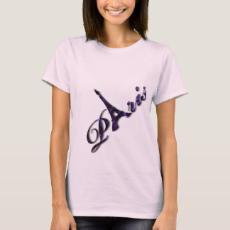 Paris Eiffel Tower Sequin Glitter Sparkle T-Shirt