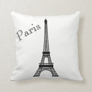Paris Eiffel Tower Silhouette Front/ Xray Back Cushion