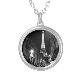 Paris, Eiffel tower Silver Plated Necklace