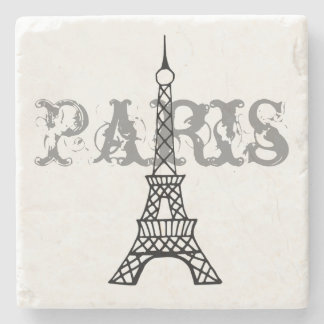 Paris Eiffel Tower Stone Drink Coaster Gift Stone Coaster