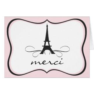 Paris Eiffel Tower Thank You Note card
