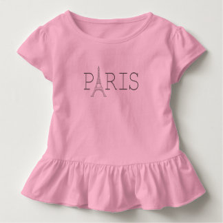 Paris Eiffel Tower toddler girl's t-shirt