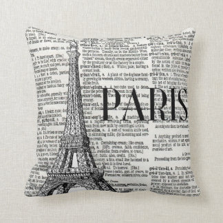 Paris Eiffel Tower Trendy Throw Pillow