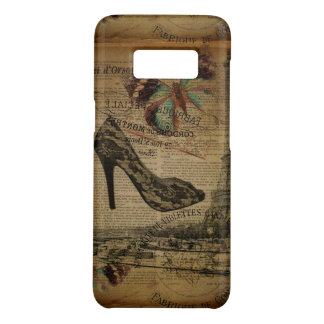 Paris eiffel tower vintage girly shoes Case-Mate samsung galaxy s8 case