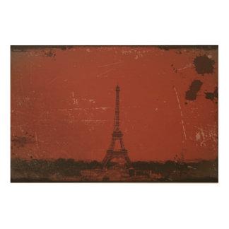 Paris Eiffel Tower Wood Prints