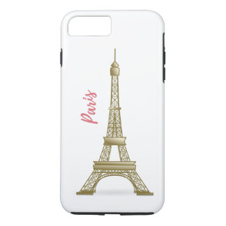 Paris Eiffle Tower Pink and Gold iPhone Case