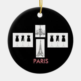 Paris Fashion Eiffel Tower Christmas Ornament