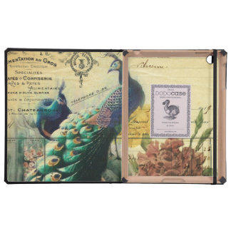 paris fashion girly flower vintage peacock iPad cases