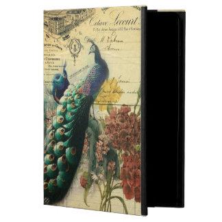 paris fashion girly flower vintage peacock iPad air covers