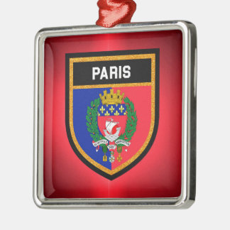 Paris Flag Metal Ornament