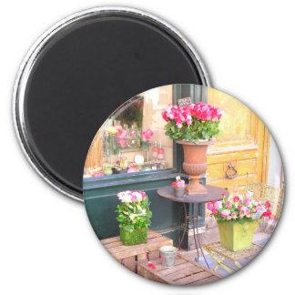 Paris Flower Shop 6 Cm Round Magnet