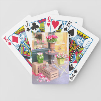 Paris Flower Shop Bicycle Playing Cards
