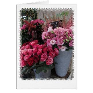 Paris flowers card