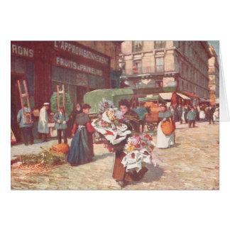 Paris Flowers for Sale Card