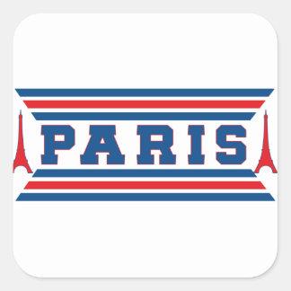 Paris football square sticker