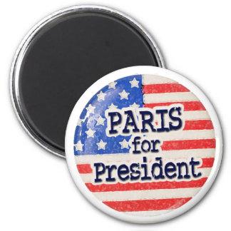 Paris for President 6 Cm Round Magnet