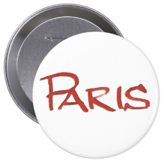Paris for Solidarity and support Against Terrorism 10 Cm Round Badge