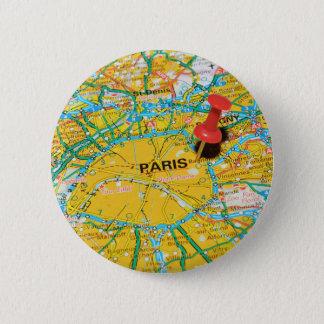 Paris, France 6 Cm Round Badge