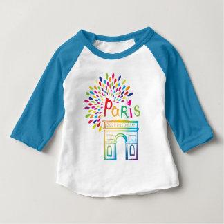 Paris France   Arc de Triomphe   Neon Design Baby T-Shirt
