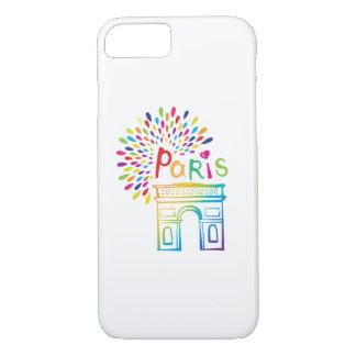 Paris France | Arc de Triomphe | Neon Design iPhone 8/7 Case