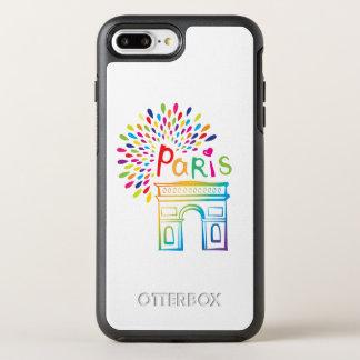 Paris France | Arc de Triomphe | Neon Design OtterBox Symmetry iPhone 8 Plus/7 Plus Case