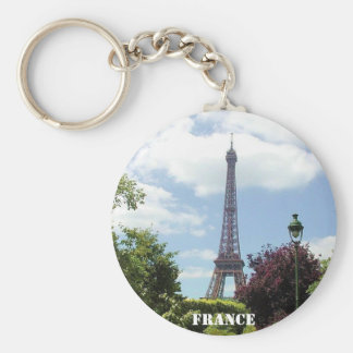 PARIS, FRANCE BASIC ROUND BUTTON KEY RING