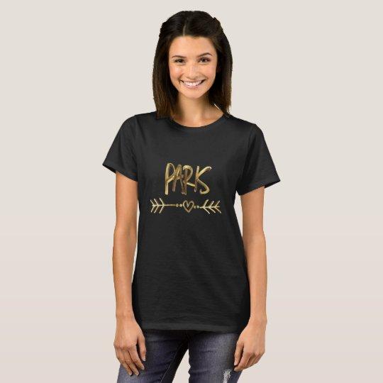 Paris France Black Gold Look Typography Elegant T-Shirt