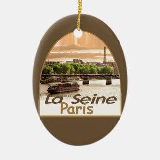 PARIS France Ceramic Oval Decoration