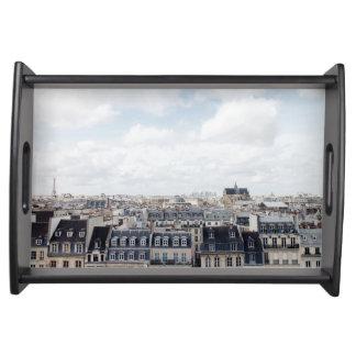 Paris France Cityscape Serving Tray