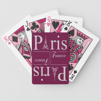 Paris France custom playing cards