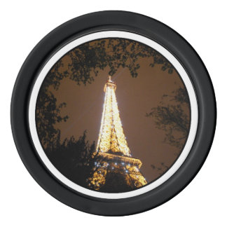 Paris, France - Eiffel Tower at Night Poker Chip Set