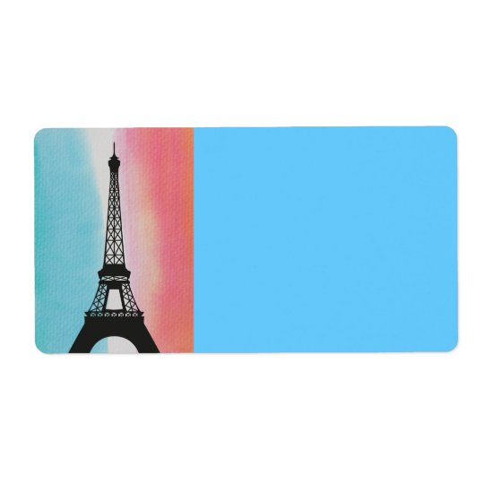 Paris France Eiffel Tower Birthday Party Peace Shipping Label