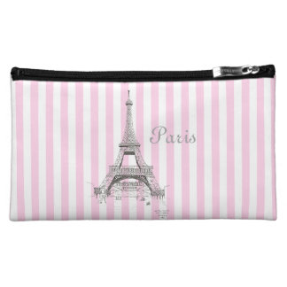 Paris France Eiffel Tower Cosmetic Bag