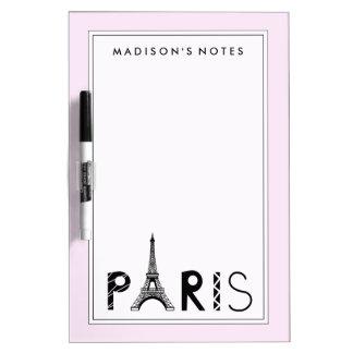 Paris, France | Eiffel Tower Dry Erase Board