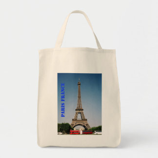 Paris France Eiffel Tower Grocery Tote