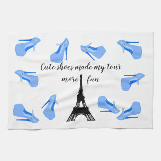 Paris France Eiffel Tower High Heels Tea Towel