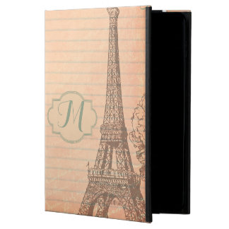 Paris France Eiffel Tower Monogram IPAD AIR 2 Case