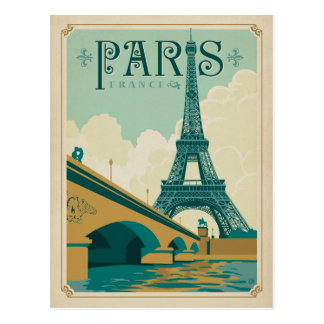 Paris France - Eiffel Tower Postcard