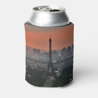 Paris France Eiffel Tower Skyline Can Cooler