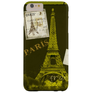 Paris France Eiffel Tower Stamp Barely There iPhone 6 Plus Case