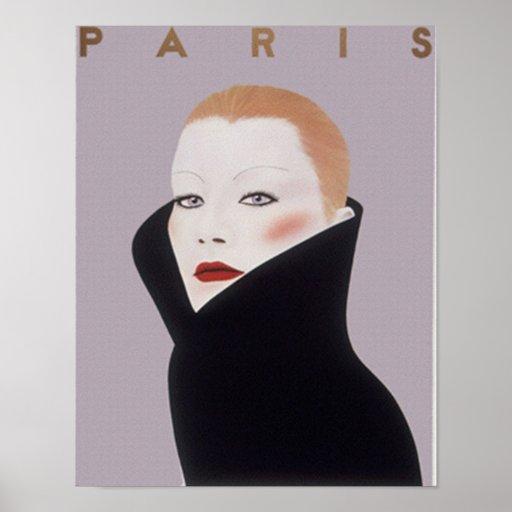 Paris France Fashion Vintage Print Print