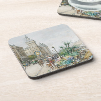 Paris France Flower Sellers Marketplace Coaster