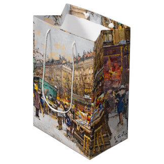 Paris France Flowers Street Vendors Gift Bag