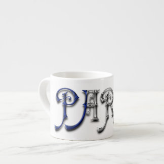 Paris France French Flag Colors Typography Espresso Cup
