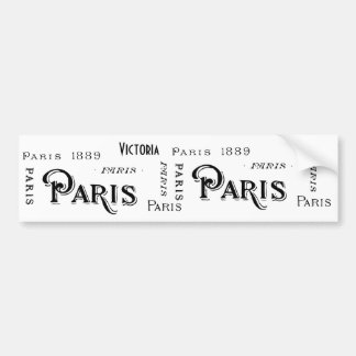 Paris France Gifts and Souvenirs Bumper Sticker