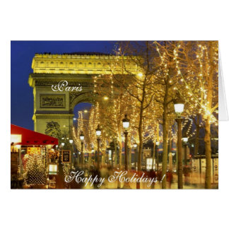 Paris, France - Happy Holidays ! Greeting Card
