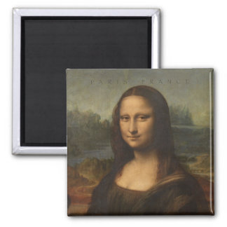 Paris France Mona Lisa Travel Souvenir Magnet